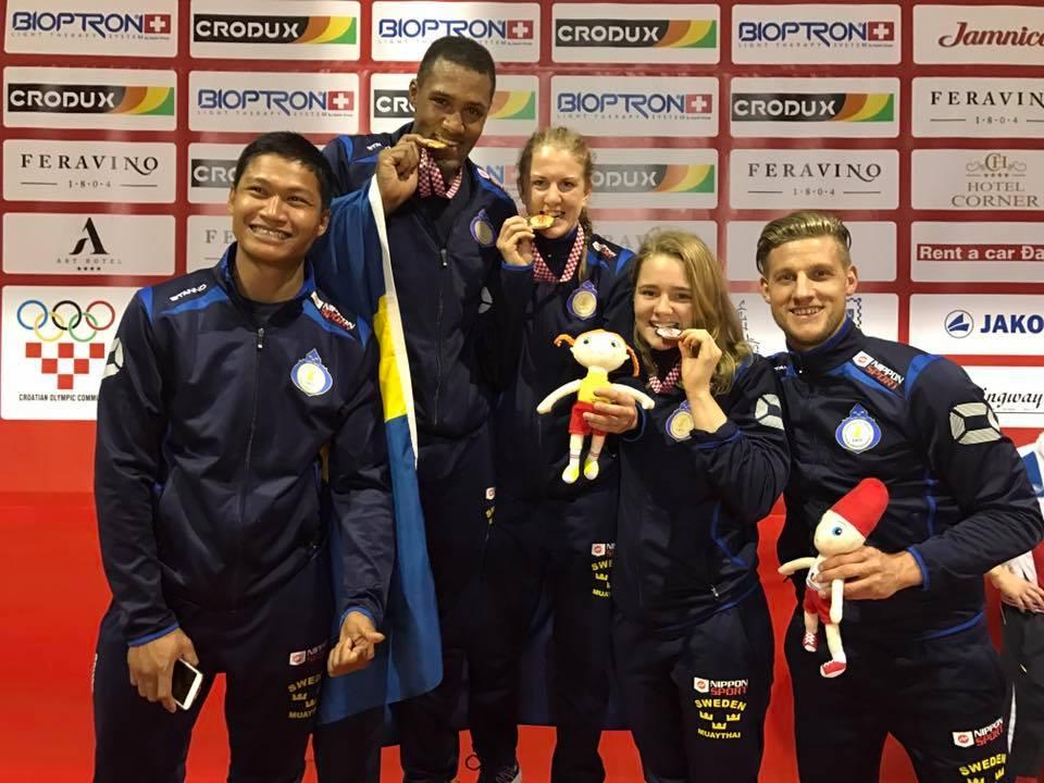 Medaljregn för Sverige i Thaiboxnings EM