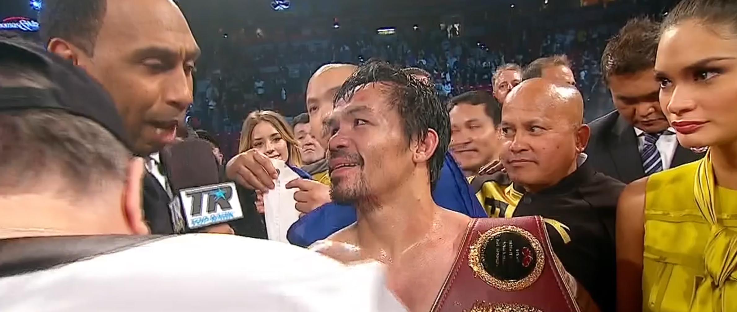 Manny Pacquiao ny världsmästare efter vinst mot Jessie Vargas