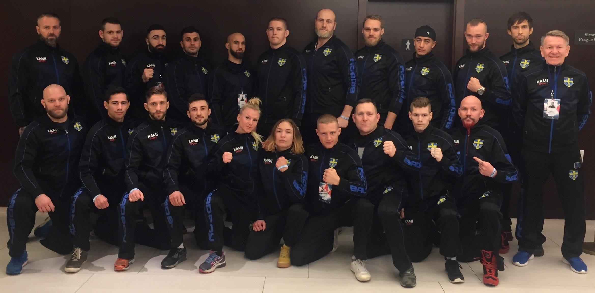 Guldregn för Sverige i MMA EM